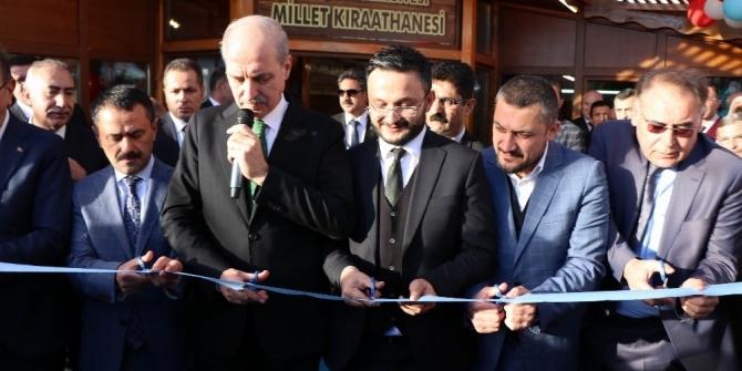 Nevşehir'de Kurtulmuş'un katılımıyla Millet Kıraathanesi açıldı