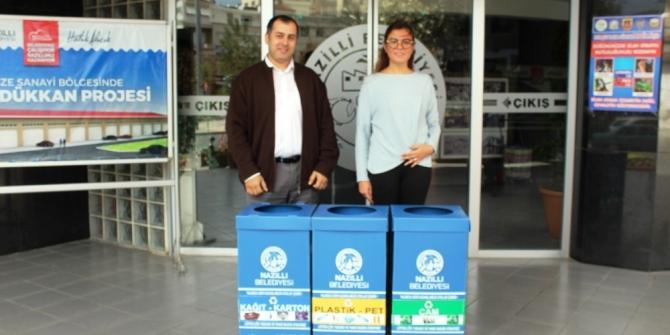 Nazilli Belediyesinden 'Sıfır Atık Projesi'ne destek