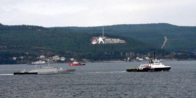 Rus savaş gemisi, Çanakkale Boğazı'ndan römorkörle geçti