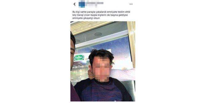 Sahte para verdiği iddiasıyla esnaf tarafından dövüldü