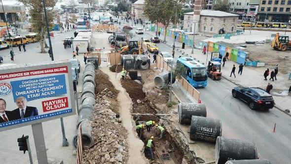 Üsküdar'da kazı esnasında tarihi kalıntılara rastlandı