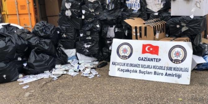 Gaziantep'te 48 bin paket kaçak sigara ele geçirildi
