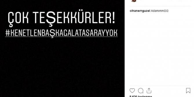 Galatasaraylı futbolculardan ve teknik heyetten ortak tepki