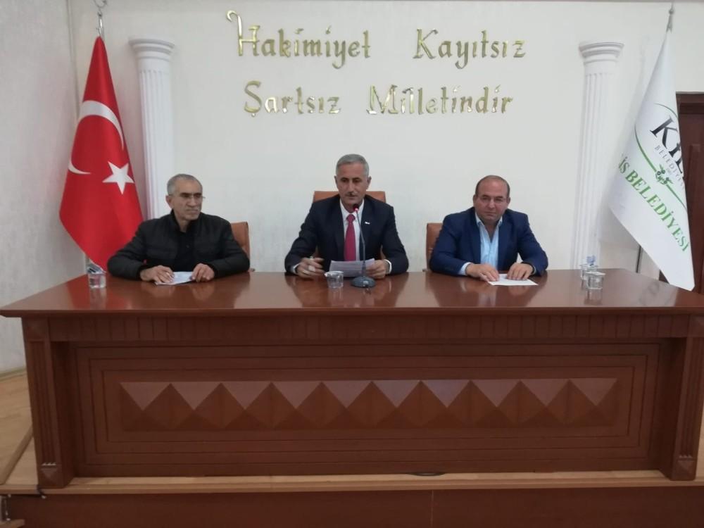 Kilis'te belediye meclisi Başkan Yardımcısı Ahmet Polat başkanlığında toplandı