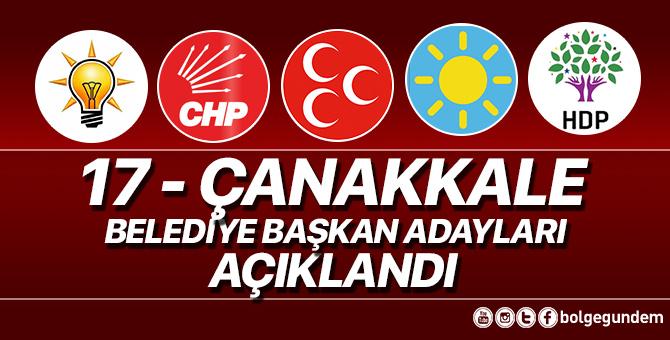 AK Parti, CHP, MHP, İYİ Parti, HDP Çanakkale Belediye başkan adayları