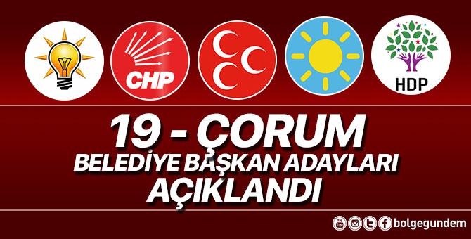 2019 Çorum Belediye başkan adayları belli oldu – 2019 Çorum yerel seçim adayları