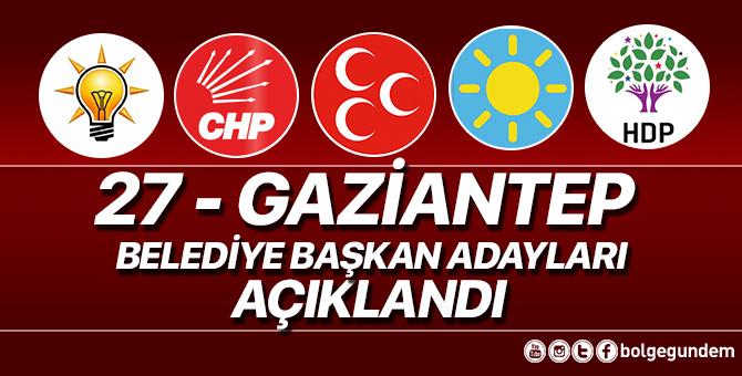 2019 Gaziantep Belediye başkan adayları belli oldu – 2019 Gaziantep yerel seçim adayları