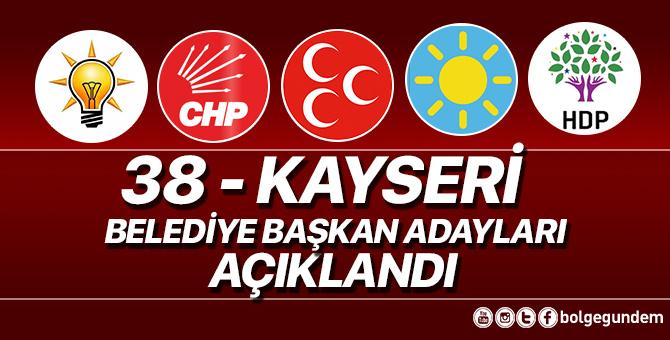2019 Kayseri Belediye başkan adayları belli oldu – 2019 Kayseri yerel seçim adayları