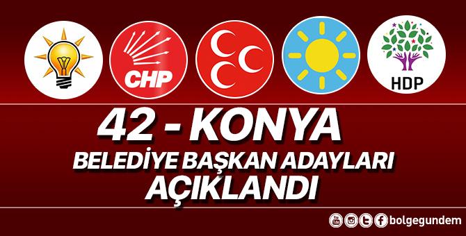 2019 Konya Belediye başkan adayları belli oldu – 2019 Konya yerel seçim adayları