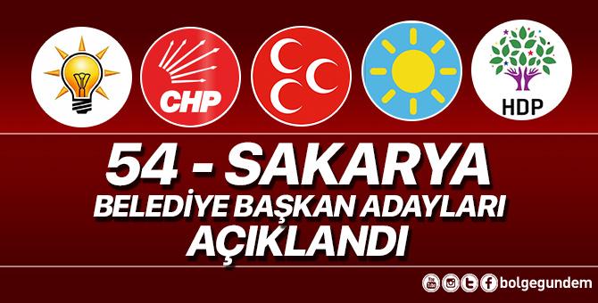 2019 Sakarya Belediye başkan adayları belli oldu – 2019 Sakarya yerel seçim adayları