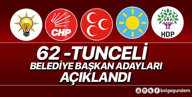 2019 Tunceli Belediye başkan adayları belli oldu – 2019 Tunceli yerel seçim adayları