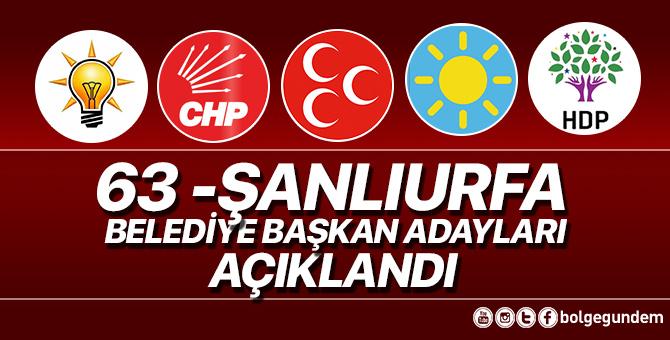 2019 Şanlıurfa Belediye başkan adayları belli oldu – 2019 Şanlıurfa yerel seçim adayları