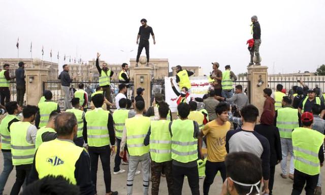 'Sarı yelekliler' protestosu Irak'a sıçradı