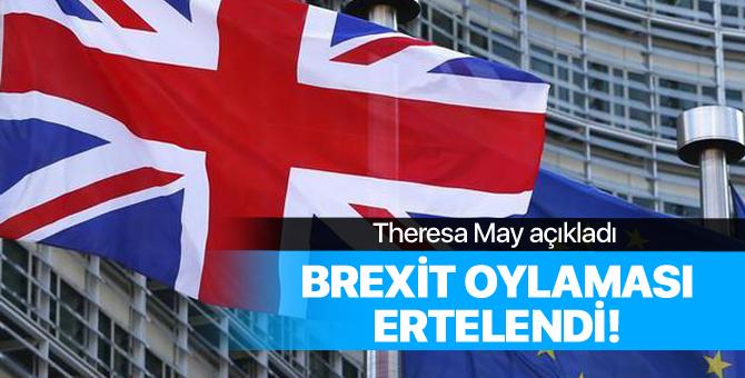 Theresa May açıkladı! Brexit oylaması ertelendi