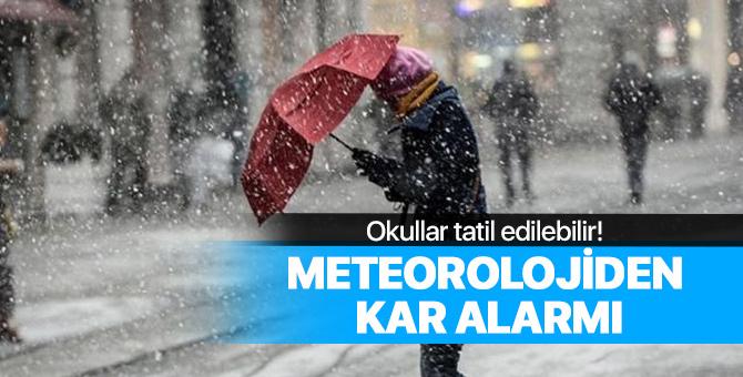Meteoroloji 3 gün sürecek kar yağışı alarmı için uyardı