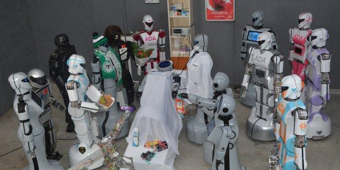 Düşen insansı robot 'Mini Ada'nın onarımı yapıldı