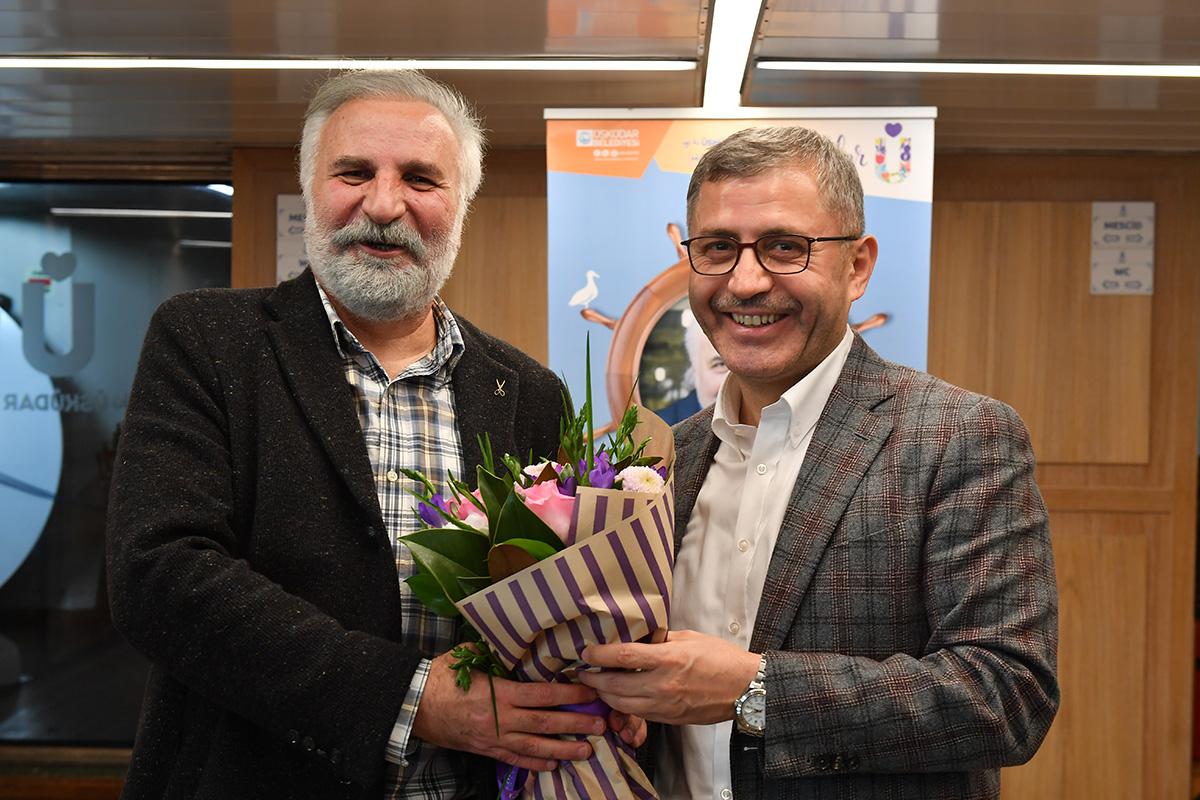 Üsüküdar Belediyesi Valide Sultan Gemisi'nde Hasan Kaçan'ı misafir etti