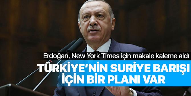 Erdoğan: Türkiye'nin Suriye'de barışı sağlamak için bir planı var