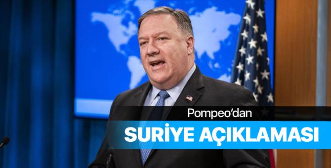 Pompeo: Trump'ın Suriye kararı kesin!