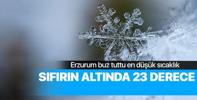 Erzurum'da hava sıcaklığı eski 23 dereceye kadar düştü