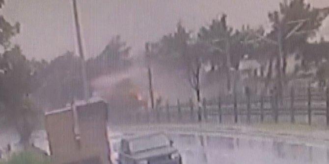 Florya'da tren hattındaki kaza kamerada