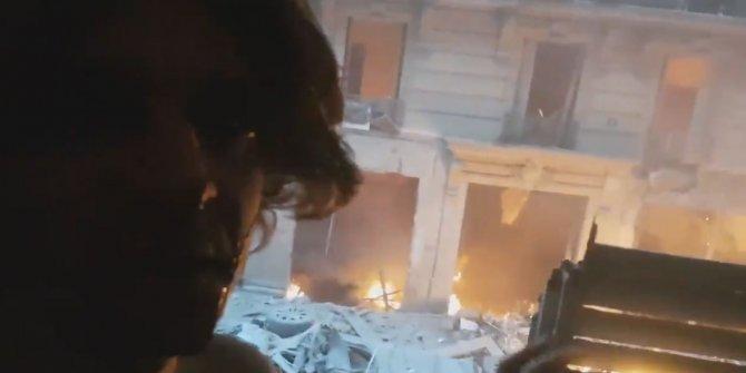 Paris'teki patlamadan yaralı kurtuldu ve yaşananları kaydetti