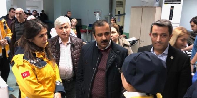 Sağlık-Sen Genel Başkanı Metin Memiş, doktorun saldırıya uğradığı hastaneyi ziyaret etti