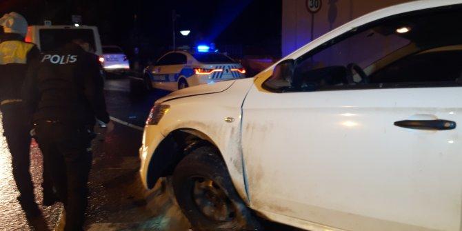 'Dur' ihtarına uymayarak kaçan sürücü kaza yapınca yakalandı