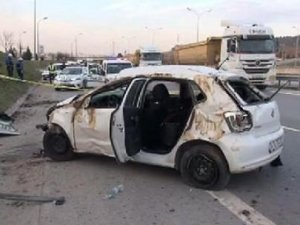 Pendik TEM Otoyolunda Kaza : 1 Ölü, 2 Yaralı