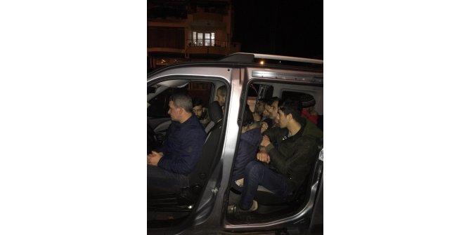 Tekirdağ'da 5 kişilik araçta 11 kaçak yakalandı