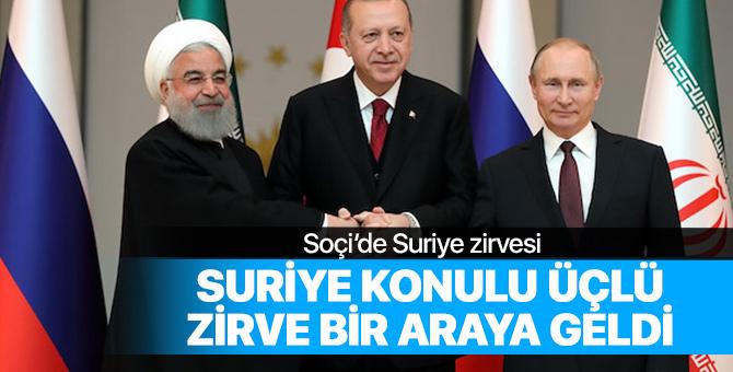 Erdoğan, Ruhani ile bir araya geldi