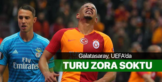 Galatasaray UEFA'da turu zora soktu
