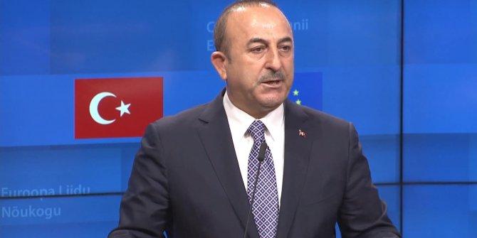 Bakan Çavuşoğlu'ndan AB'ye 'çifte standart' eleştirisi