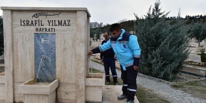 Karşıyaka Mezarlığında bakım onarım