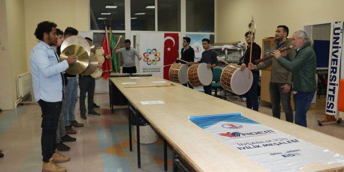 Samsun'da üniversiteli mehter takımı