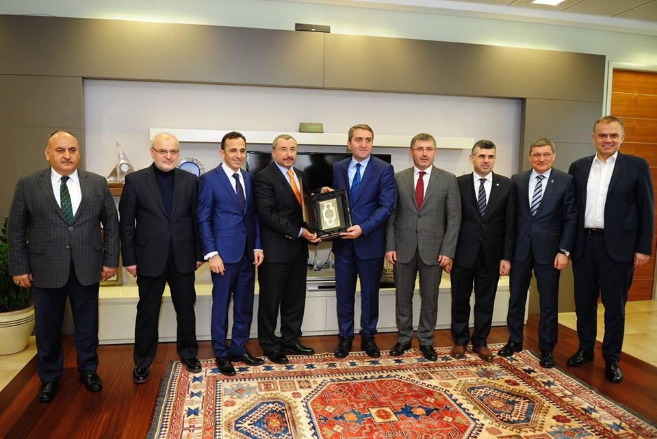 Anadolu Yakası Belediye Başkanlarından Selim Temurci'ye Ziyaret