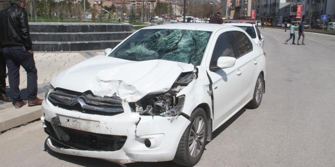 Elazığ'da otomobil ile motosiklet çarpıştı: 1 ağır yaralı