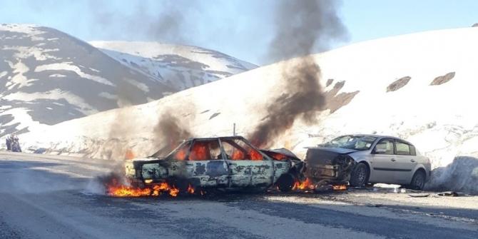 Varto'daki trafik kazasında yaralanan 7 kişi Muş'a getirildi