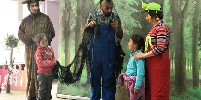 Hisarcık'ta öğrencilere orman sevgisi tiyatro ile anlatıldı