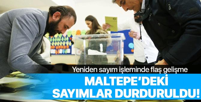 Maltepe'de flaş gelişme: Oy sayımı durduruldu!