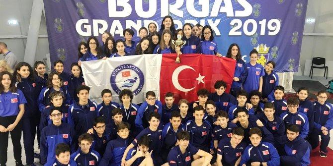 Burgaz Yüzme Grand Prix'de 36 altın, 34 gümüş ve 35 bronz madalya
