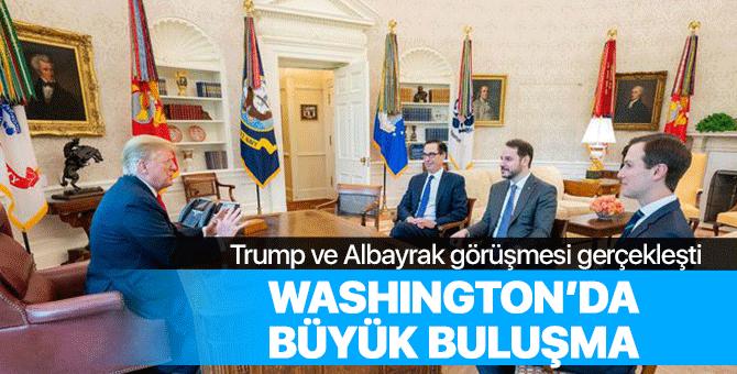 Berat Albayrak ve Donald Trump görüştü