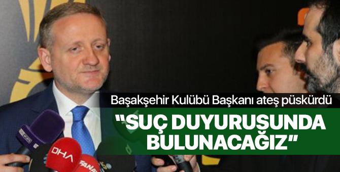 Başakşehir Başkanı Göksel Gümüşdağ, Abdurrahim Albayrak'a çok sert çıktı