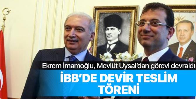 İstanbul Büyükşehir Belediyesinde devir teslim töreni