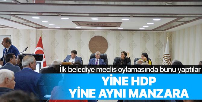 Yine HDP yine aynı manzara