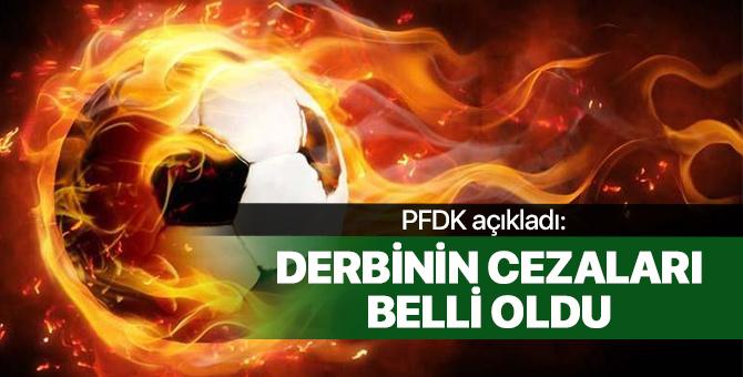 PFDK, Fenerbahçe - Galatasaray derbisinin cezalarını açıkladı