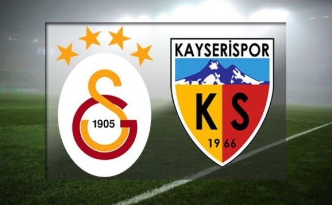 Galatasaray - Kayserispor Spor Toto Süper Lig Karşılaşmasının Naklen Yayını