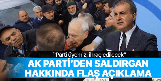 AK Parti sözcüsü Çelik: Kılıçdaroğlu'na saldıran şahıs parti üyemiz, ihraç edilecek!