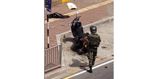 Sri Lanka'da şüpheli motosiklet kontrollü olarak patlatıldı