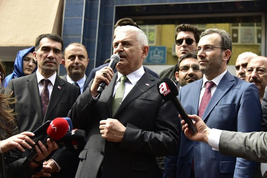 Binali Yıldırım'dan Başkan Ahmet Cin'e hayırlı olsun ziyareti